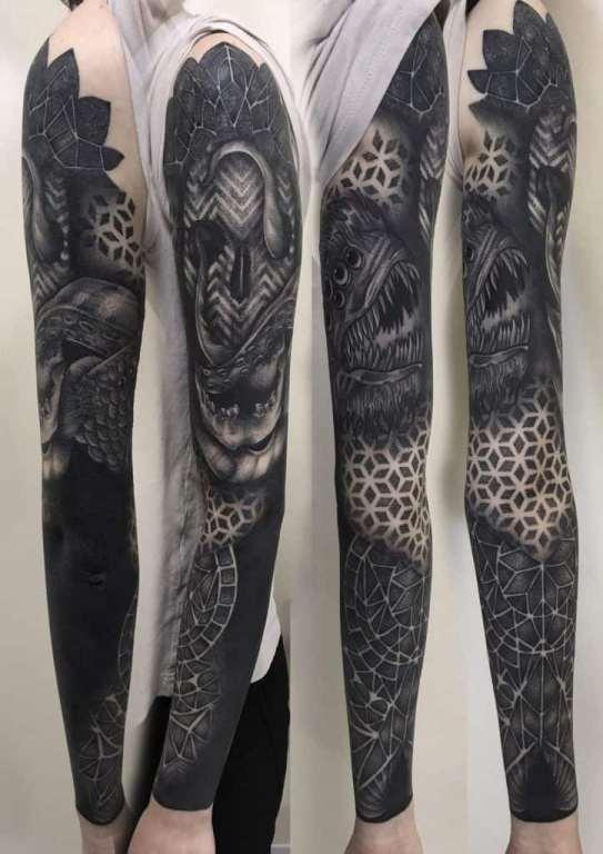 tatuaż blackwork