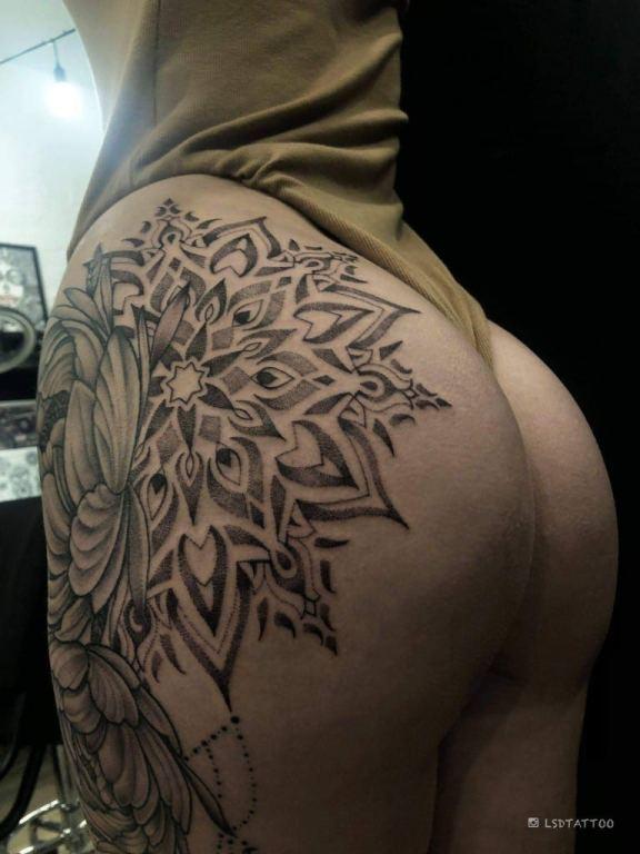 tatuaż dotwork