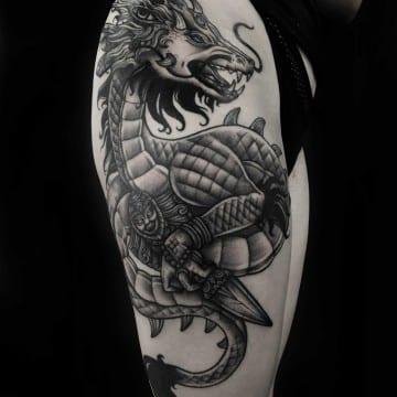 dragon graphic tattoo