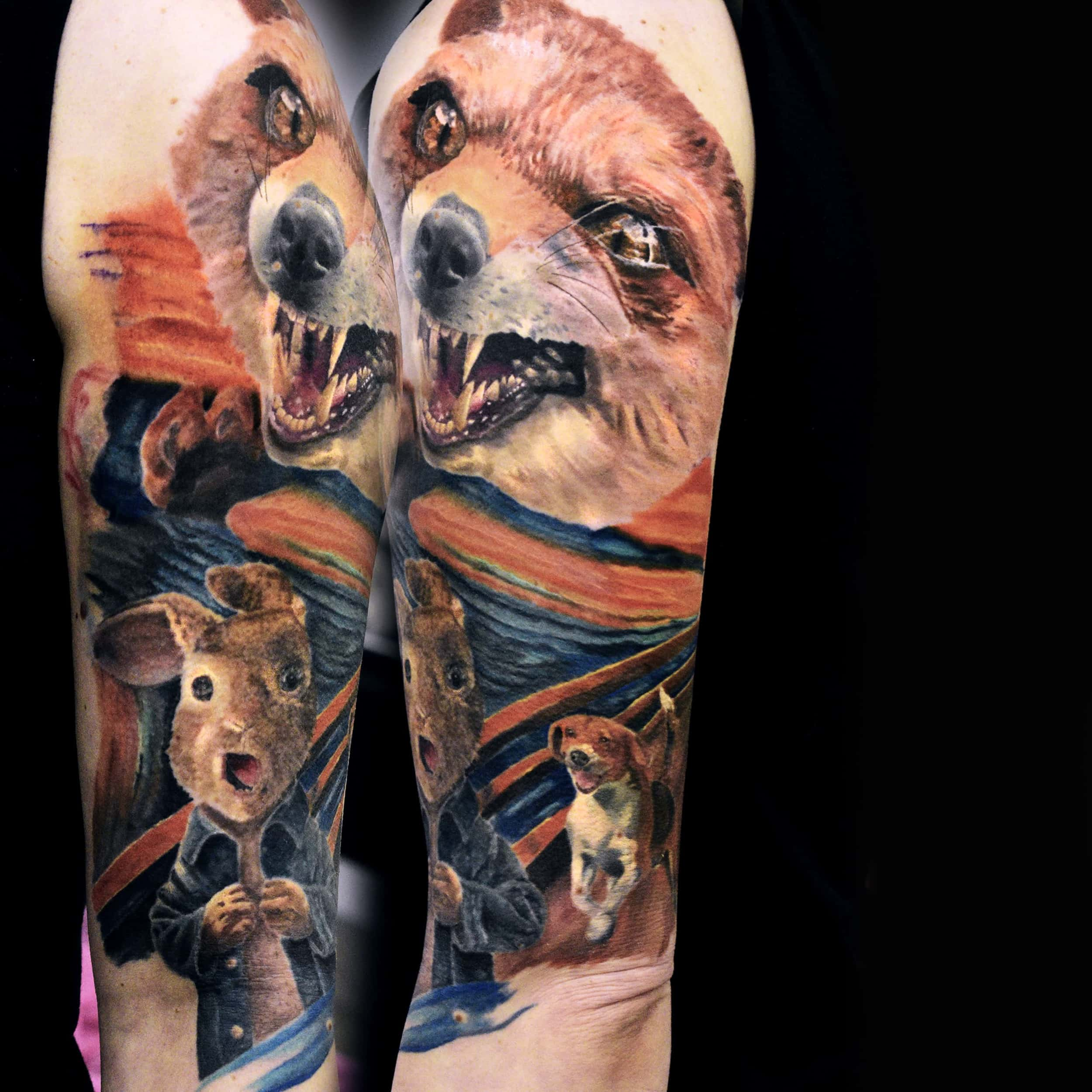 fox realistic tattoo