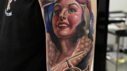 realistic color tattoo