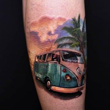 vw t4 realistic tatoocolor