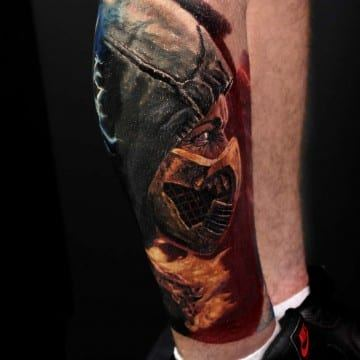 scorp[ion color realistic tattoo