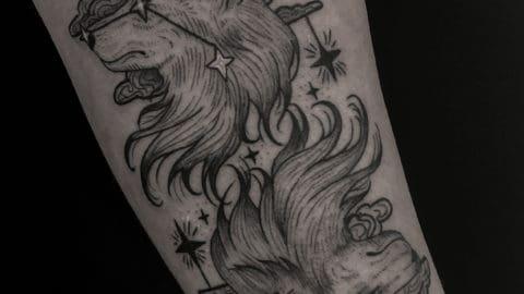 autorski graficzny tatuaż