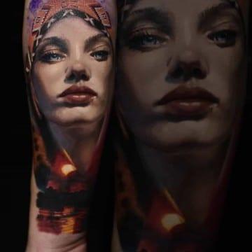 indianka tatuaż