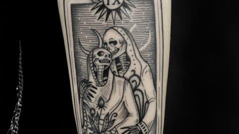karta tarota tatuaż