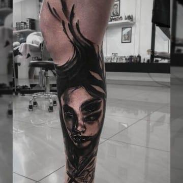 mroczny tatuaz realistyczniy 6