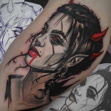 neotradycyjny tatuaz portret 3