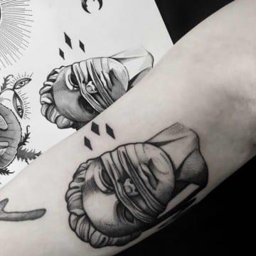 projekt tatuaz graficzny