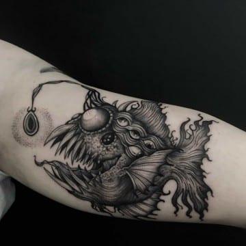 ryba tatuaz graficzny