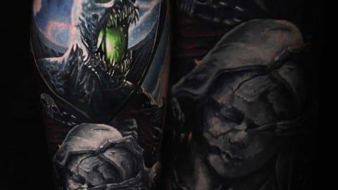 spawn tatuaz realistyczny