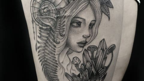 tatuaż graficzny kompozycja portret