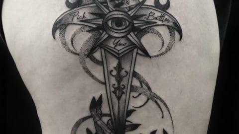 tatuaz graficzny alisy