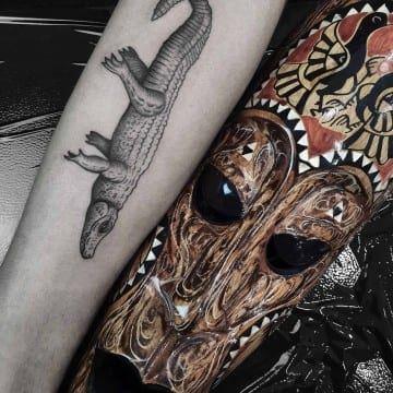 aligator tatuaz graficzny