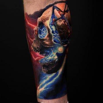 mortal kombat kolorowy tatuaz