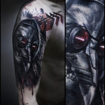 tatuaż ramie czarny