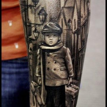 tatuaż chłopiec