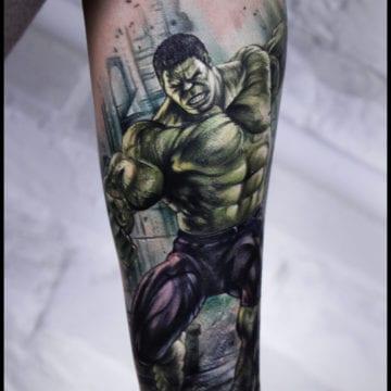 tatuaż hulk przełamie