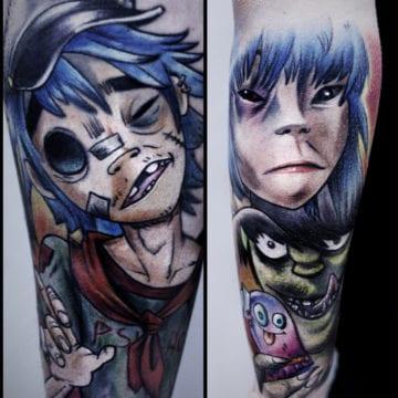 gorilaz tatuaż