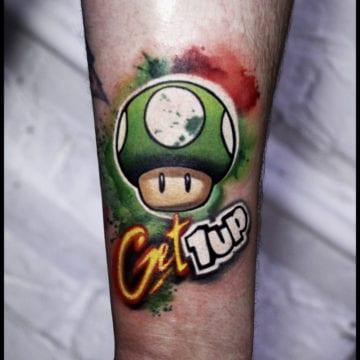 tatuaż Mario bros