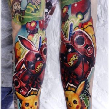 tatuaż pokemon