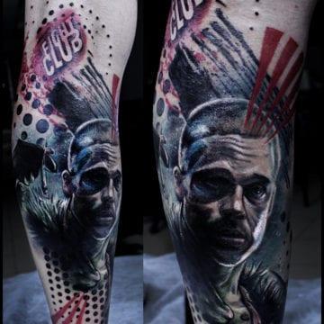portret tatuaż