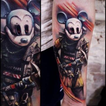 myszka Mickie tatuaz