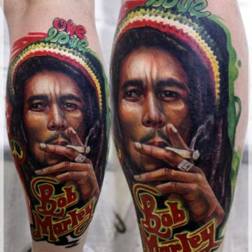 tatuaż bob Marley