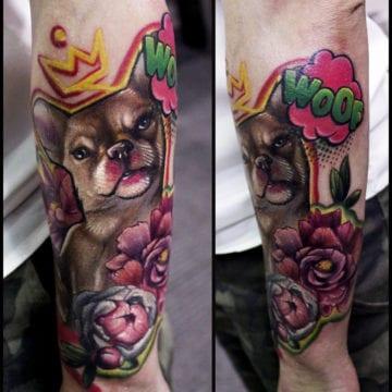 tatuaż kolor przedramię
