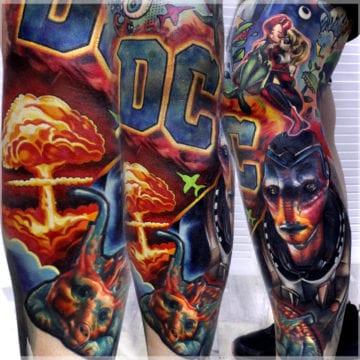 tatuaż realistyczny kolorowy
