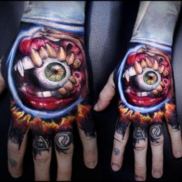 tatuaż dlon