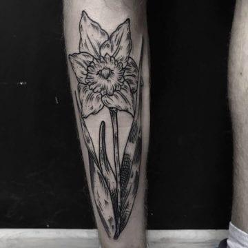 tatuaż na lydce