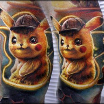 pikachu tatuaż realistyczny