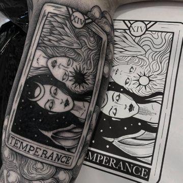 tarot cart tattoo