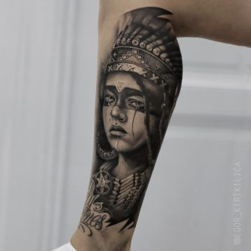 tatuaz indianka