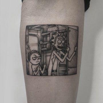 tatuaz rick & mortty