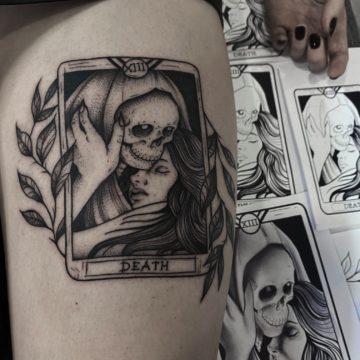 karta tarota tatuaz