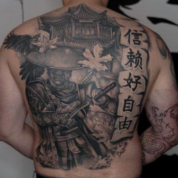 tatuaz japonski plecy