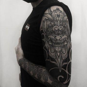 tatuaz graficzny japonski