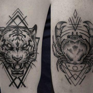 tatuaz tygrys