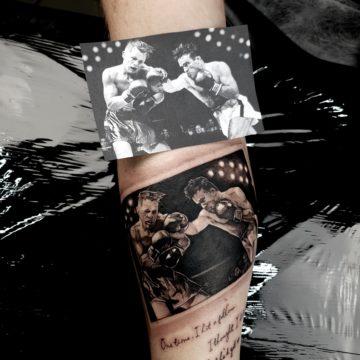tatuaż bokseer